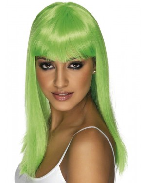 Neon Green Wig at Fancy Dress and Party