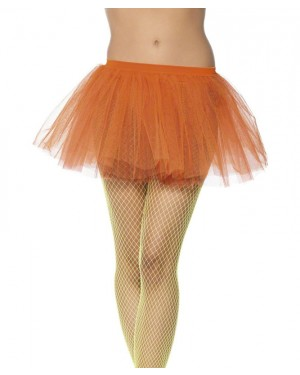 Neon Orange Tutu at Fancy Dress and Party
