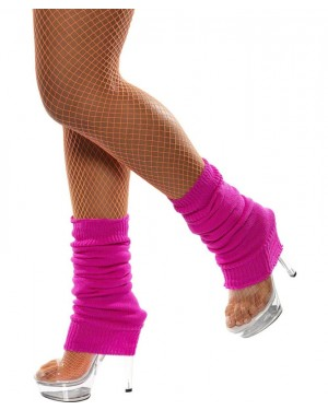Neon Pink Legwarmers at Fancy Dress and Party