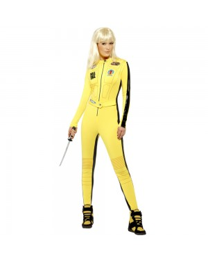 Official Licensed Kill Bill Costume Front View at Fancy Dress and Party