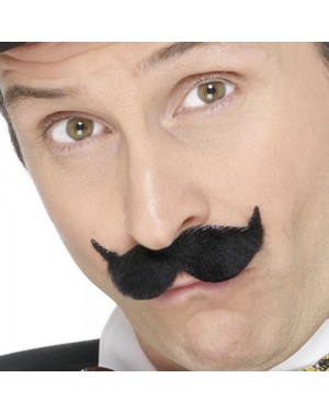 Old English Black Moustache at Fancy Dress and Party