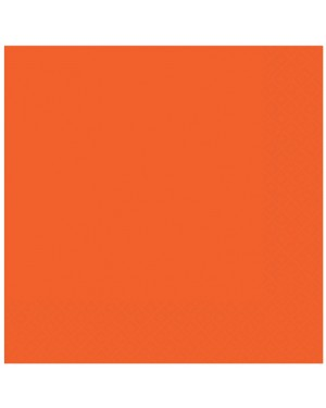Orange Napkins Pack of 50  at Fancy Dress and Party