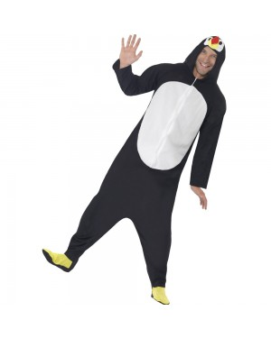 Penguin Onesie Costume Front View at Fancy Dress and Party