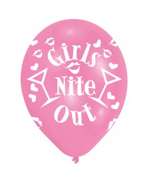 Pink Girls Nite Out Latex Balloons at Fancy Dress and Party