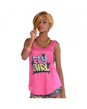 Pink Hip Hop 90s Top at Fancy Dress and Party