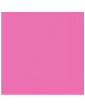 Pink Napkins Pack of 50 at Fancy Dress and Party