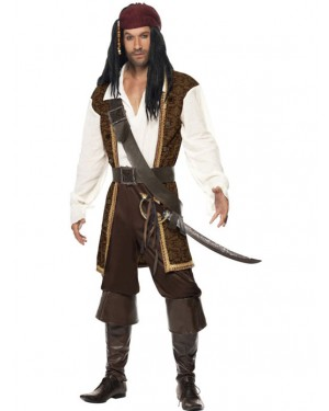 Pirate Captain Costume Front at Fancy Dress and Party