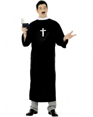 Priest Costume Front at Fancy Dress and Party