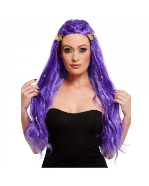 Purple Fortune Teller Wig at Fancy Dress and Party