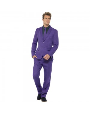 Purple Stand Out Suit Front View at Fancy Dress and Party