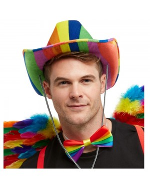 Rainbow Cowboy Hat at Fancy Dress and Party