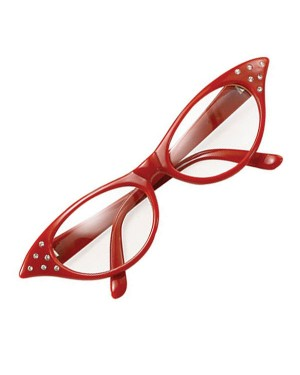 Red 50s Glasses
