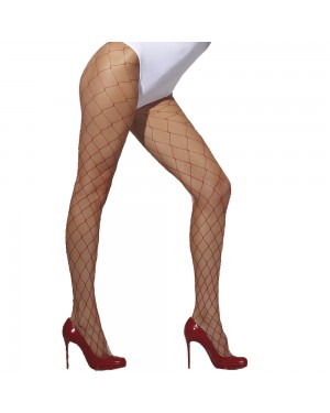 Red Diamond Net Tights at Fancy Dress and Party