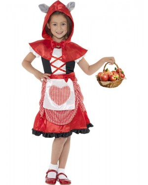 Girls Red Riding Hood Costume at Fancy Dress and Party