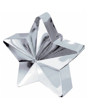 Silver Star Balloon Weight at Fancy Dress and Party