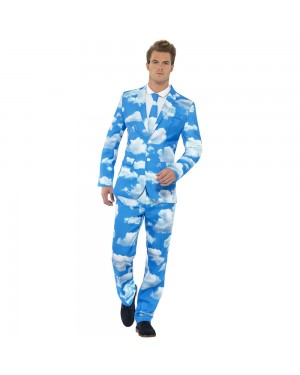 Sky High Stand Out Suit Front View at Fancy Dress and Party