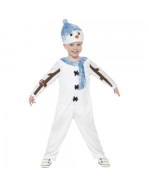 Snowman Toddler Costume Front View at Fancy Dress and Party