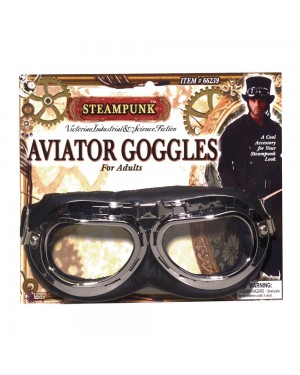 Steampunk Aviator Goggles at Fancy Dress and Party