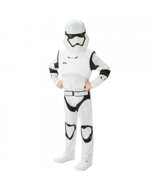 Storm Trooper Kids Costume Front View at Fancy Dress and Party