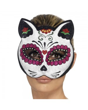 Sugar Cat Eyemask Front View at Fancy Dress and Party