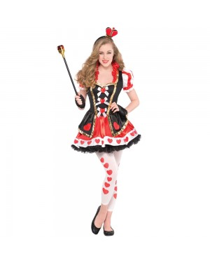Teens and Girls Queen of Hearts Costume at Fancy Dress and Party
