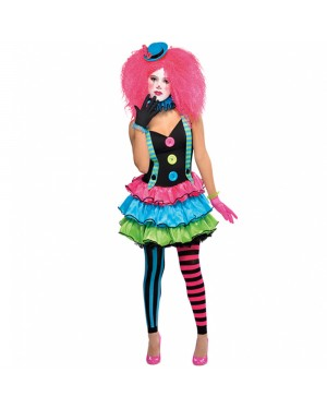 Teens Cool Clown Costume at Fancy Dress and Party