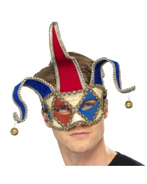 Venetian Musical Jester Eyemask at Fancy Dress and Party