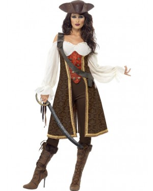 Wench Pirate Costume Front at Fancy Dress and Party