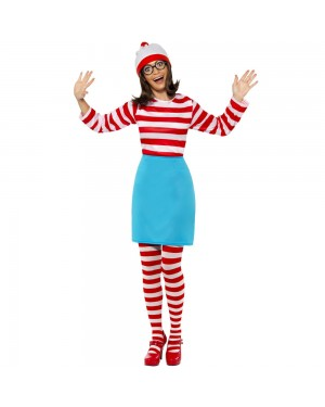 Where's Wally Wenda Costume at Fancy Dress and Party