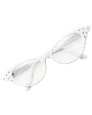 White 50s Glasses