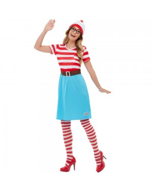 Womens Wheres Wally Costume at Fancy Dress and Party