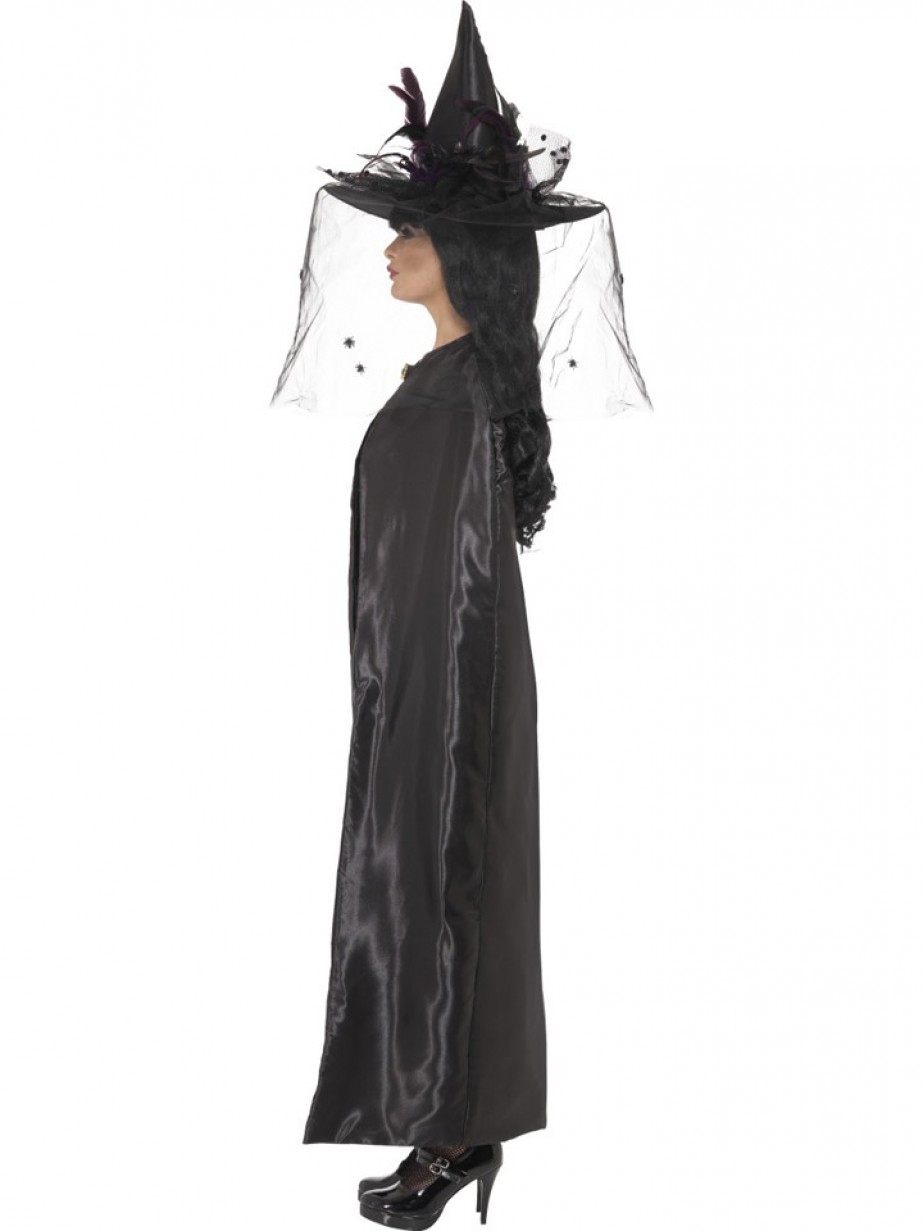 Black Witch Cape Halloween Fancy Dress And Party
