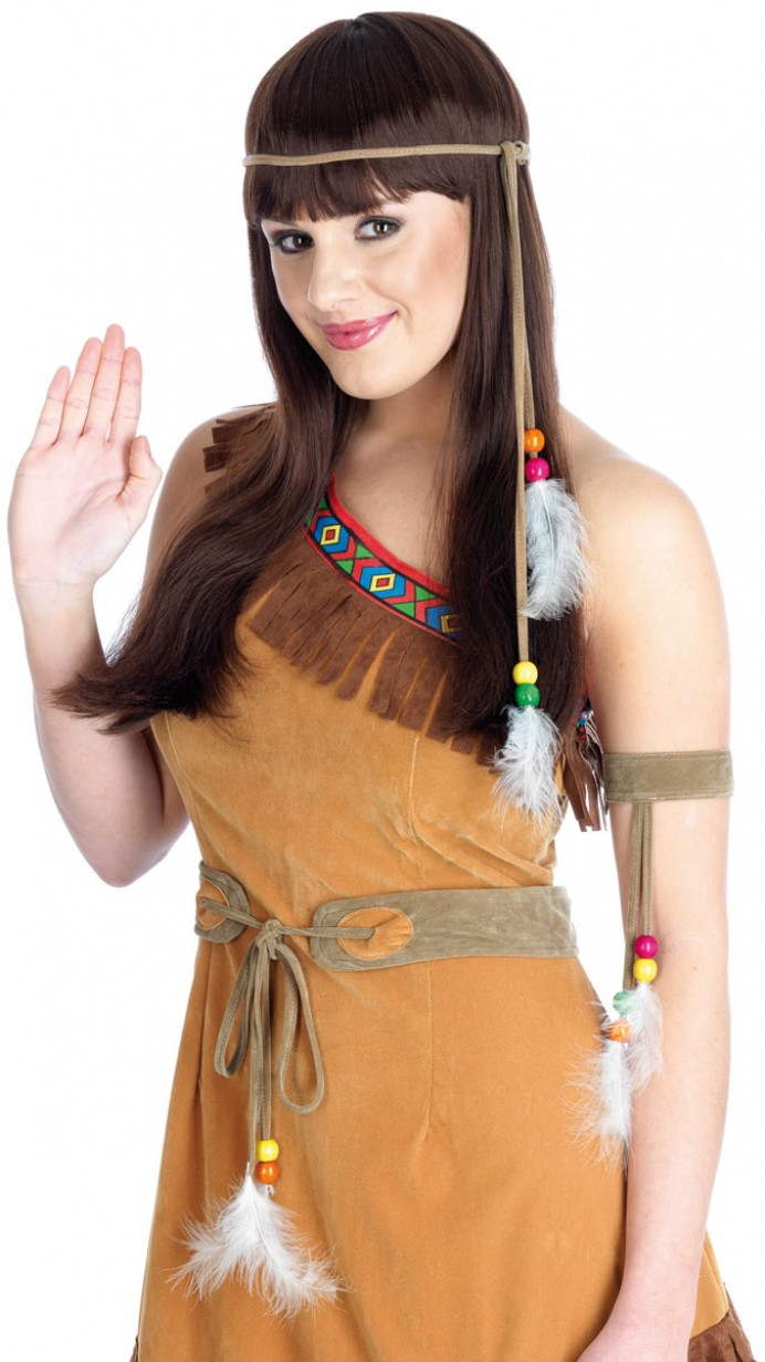 85a09001c8 More Views. Deluxe Indian Squaw Costume Front at Fancy Dress ...