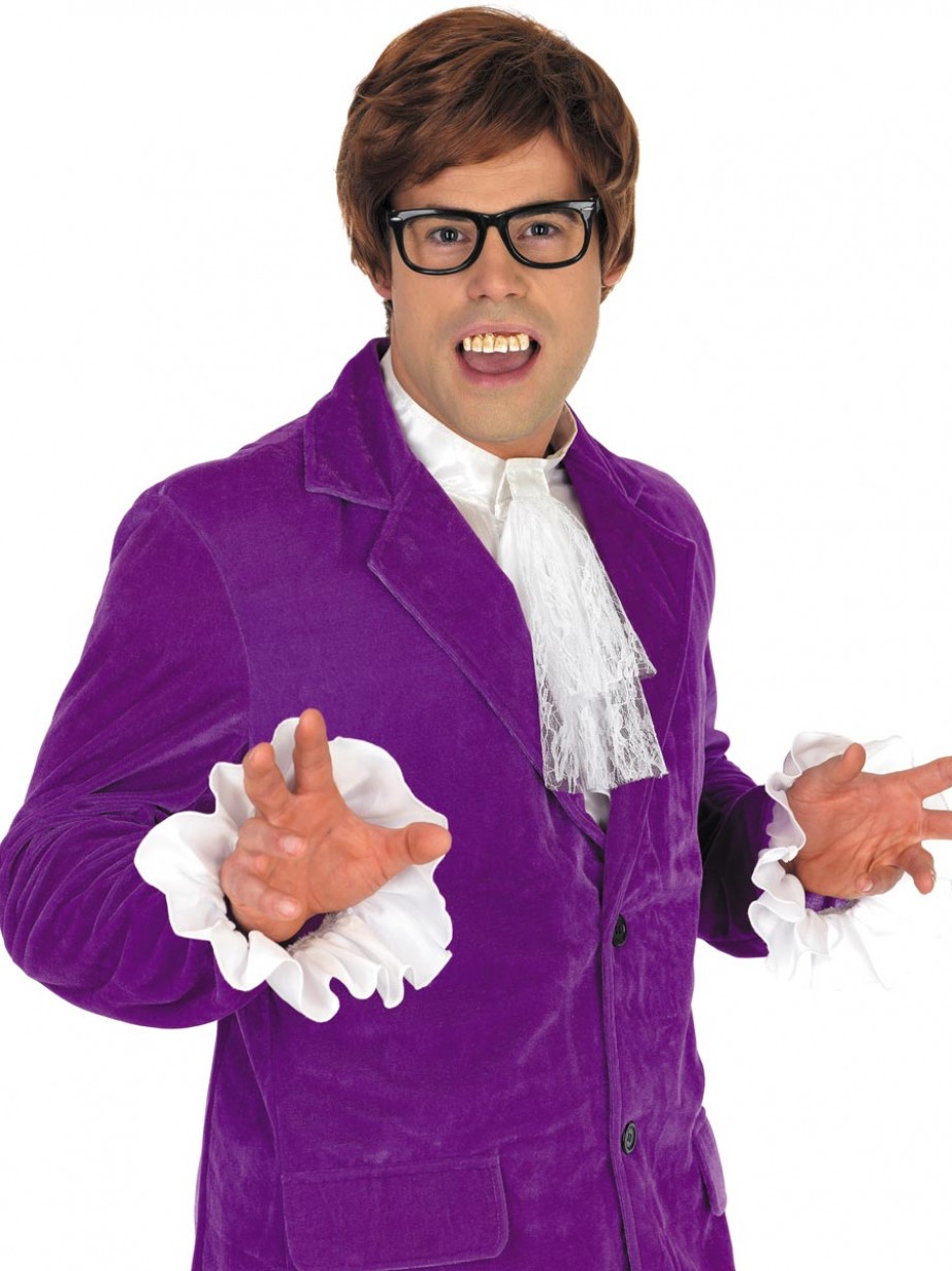 Purple Mojo Man 60s Costume - Fancy Dress and Party