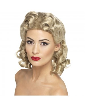 1940s Blonde Sweetheart Wig at Fancy Dress and Party