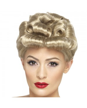 1940s Blonde Vintage Wig at Fancy Dress and Party