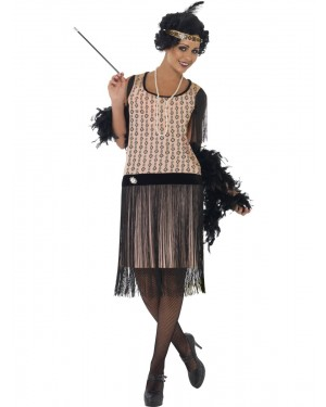 20s Coco Flapper Costume Front at Fancy Dress and Party