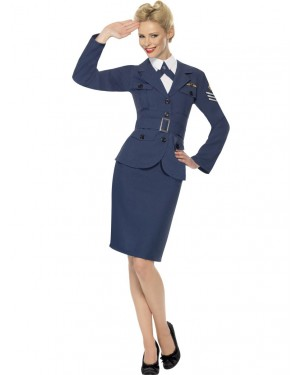 40s Air Force Captain Front at Fancy Dress and Party