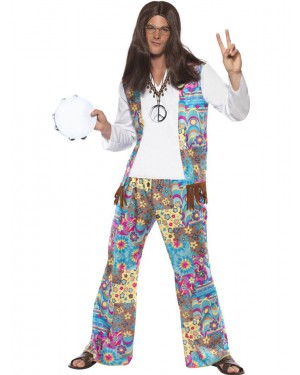 60s Groovy Hippie Costume Front at Fancy Dress and Party