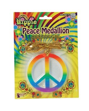 60s Peace Medallion at Fancy Dress and Party
