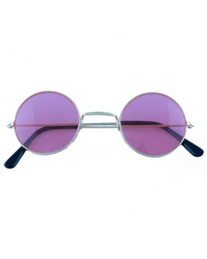 60s Pink Hippie Glasses at Fancy Dress and Party
