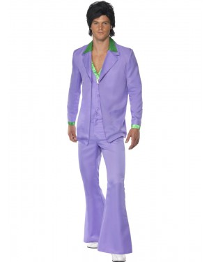 70s Disco Suit Front View at Fancy Dress and Party