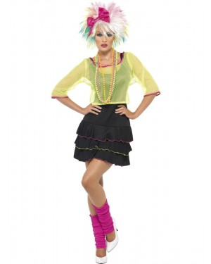 80s Neon Costume at Fancy Dress and Party