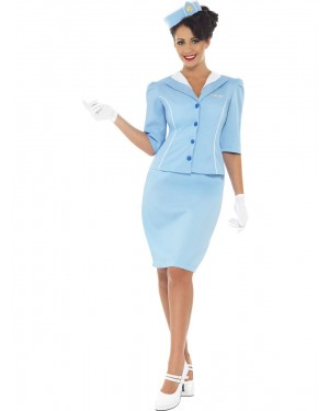 Air Hostess Costume Front View at Fancy Dress and Party