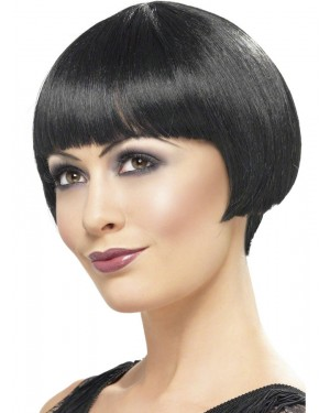 Black 20s Wig at Fancy Dress and Party