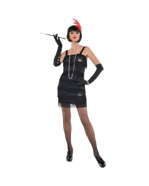 Black Flapper Dress at Fancy Dress and Party