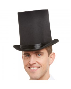 Black High Top Hat at Fancy Dress and Party