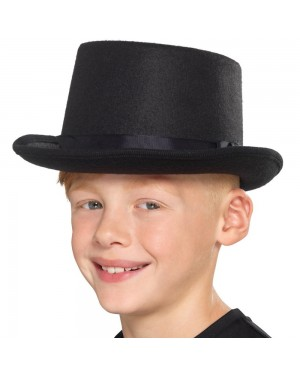 Black Kids Top Hat Boys View at Fancy Dress and Party