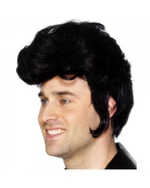 Black Rockstar Wig at Fancy Dress and Party