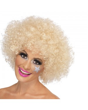 Blonde Afro Wig at Fancy Dress and Party